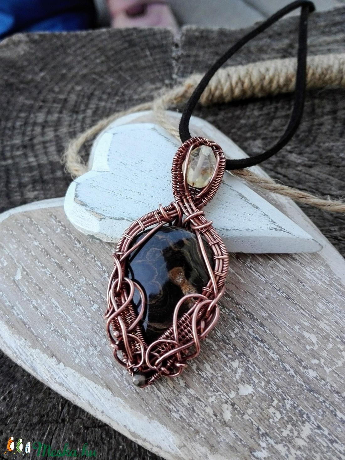 Arany örvény - stromatolit réz nyaklánc (Mandaladrotekszer) - Meska.hu