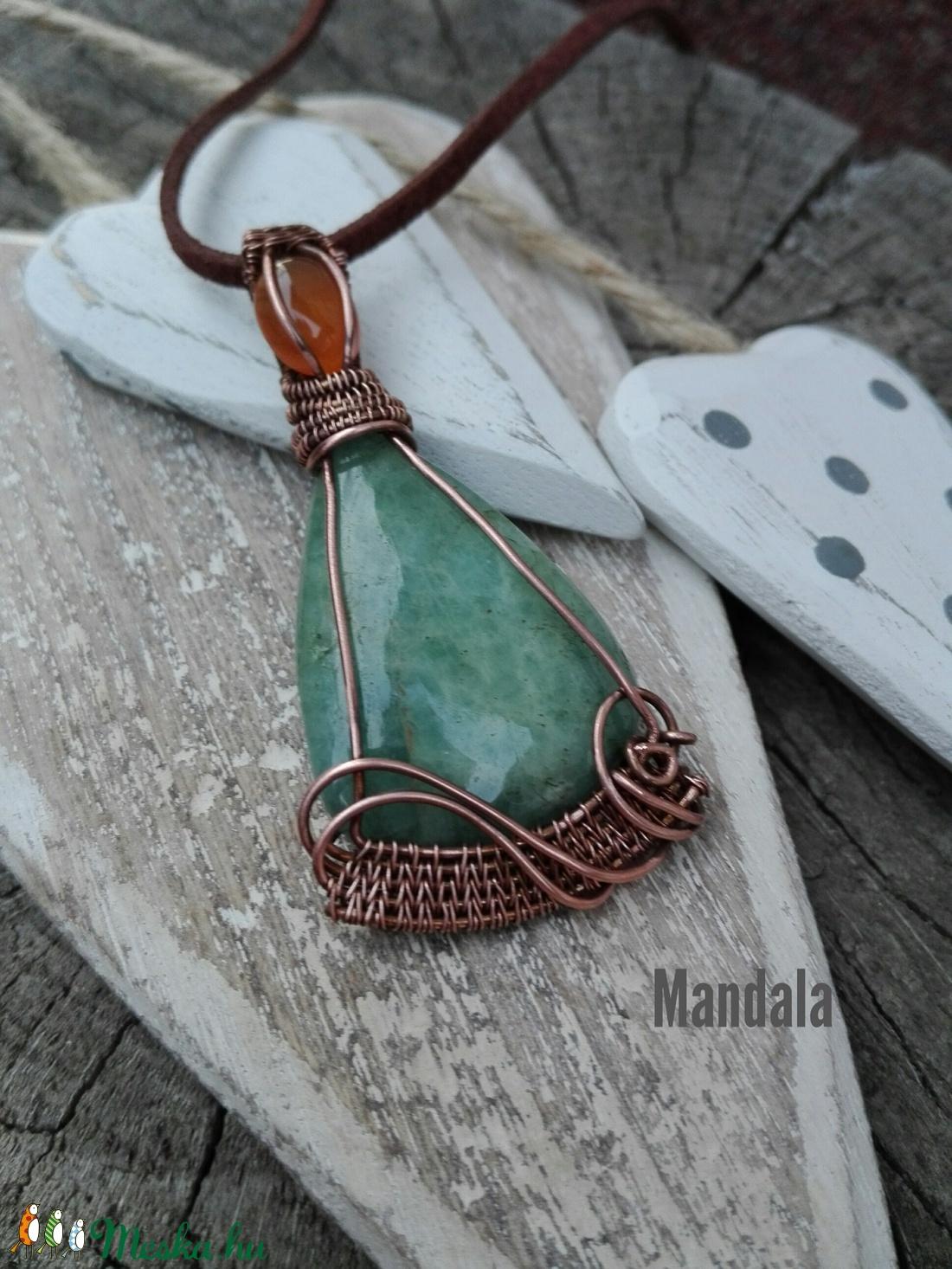 Hullámok - aqauamarin réz nyaklánc (Mandaladrotekszer) - Meska.hu