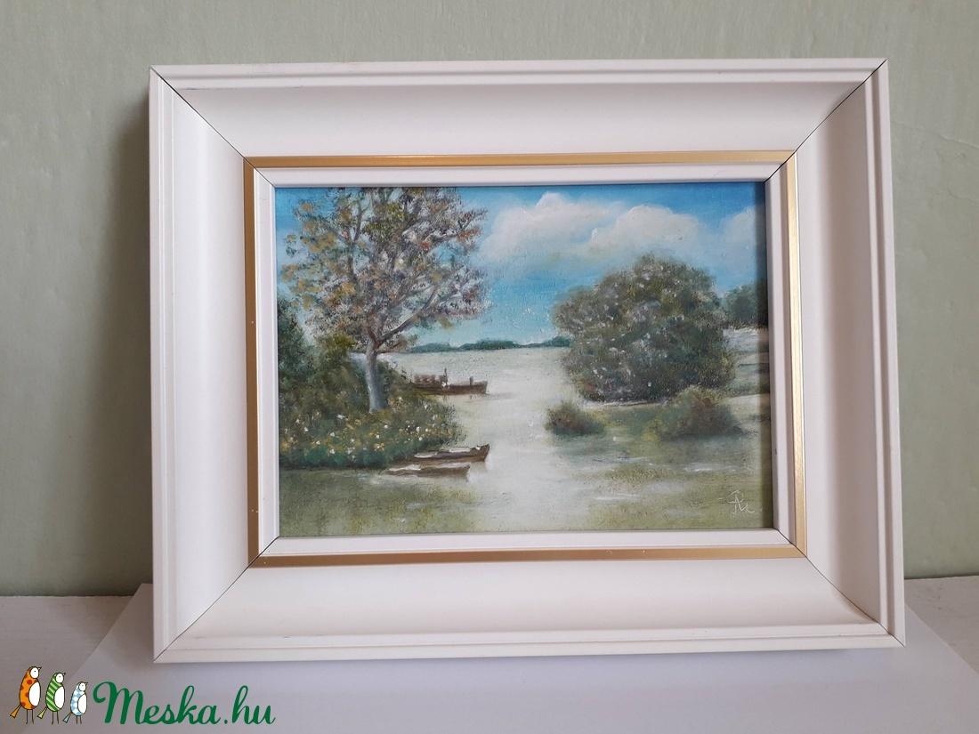 Tiszai árvíz - művészet - festmény - olajfestmény - Meska.hu