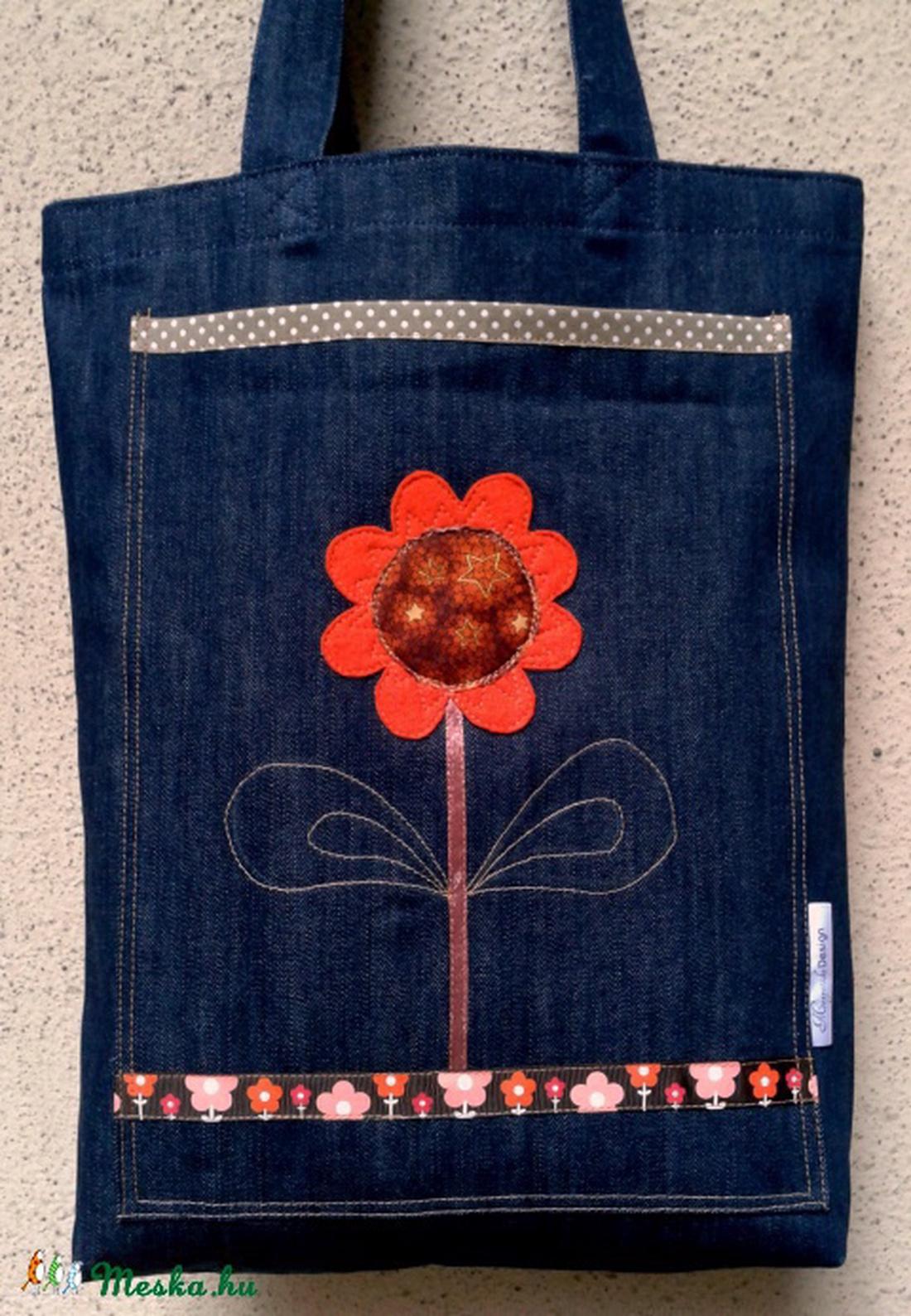 1cc76c083f4a ... Narancs virágos farmer táska (Manyecskadesign) - Meska.hu ...