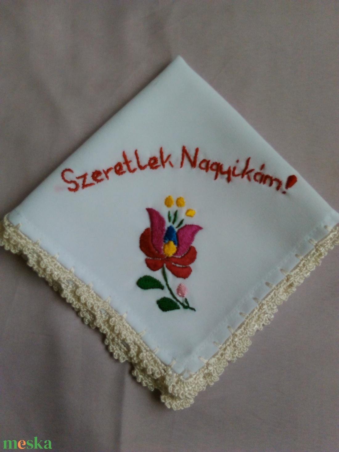 Köszönöm kendő - esküvő - emlék & ajándék - köszönőajándék - Meska.hu