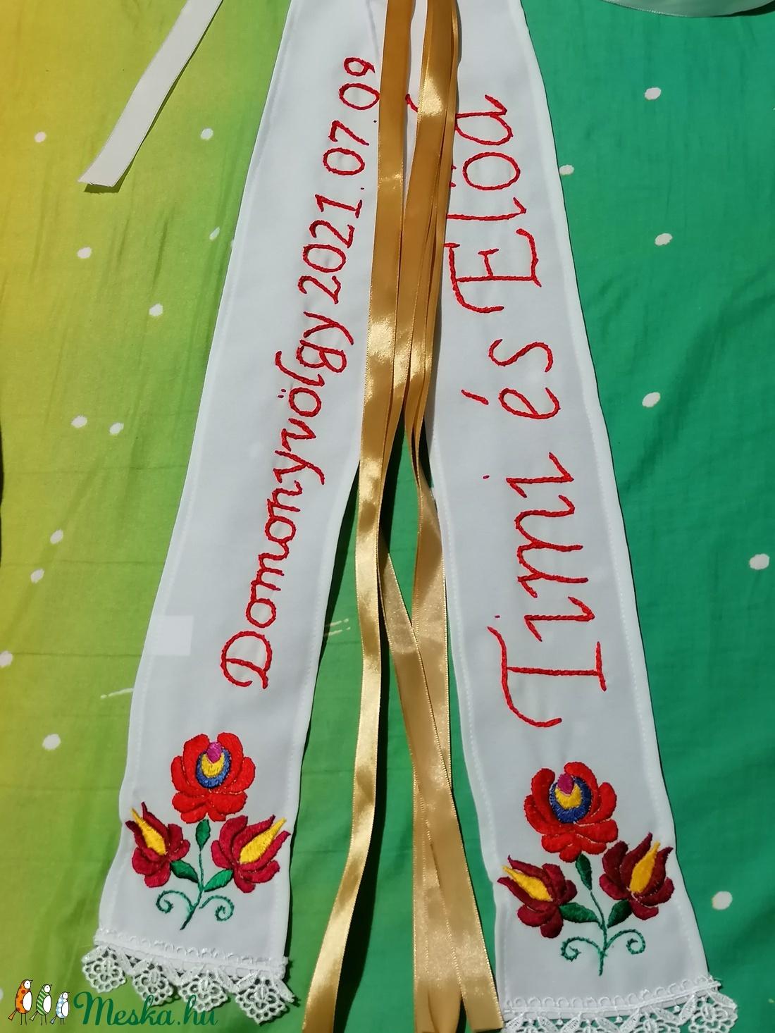Vőfély szalag - esküvő - kiegészítők - öv & pánt - Meska.hu