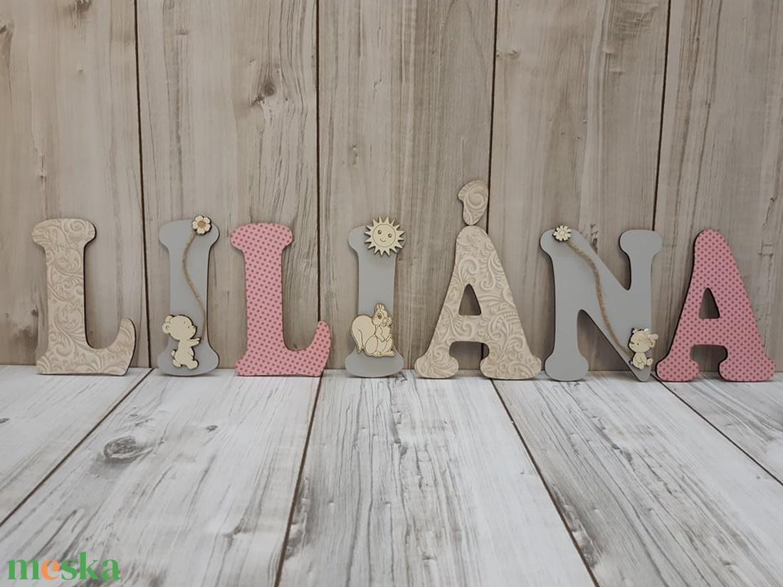 Egyedi, személyre szabott, fából készült név/felirat! - otthon & lakás - dekoráció - betű & név - Meska.hu