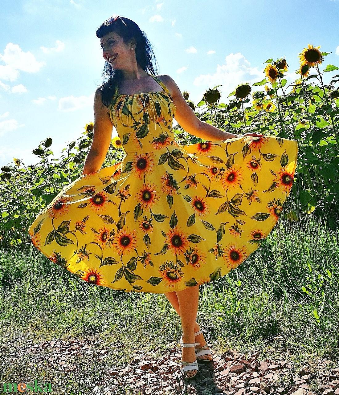 Pinup Rockabilly ruha, napraforgó mintás (Marticicc) - Meska.hu