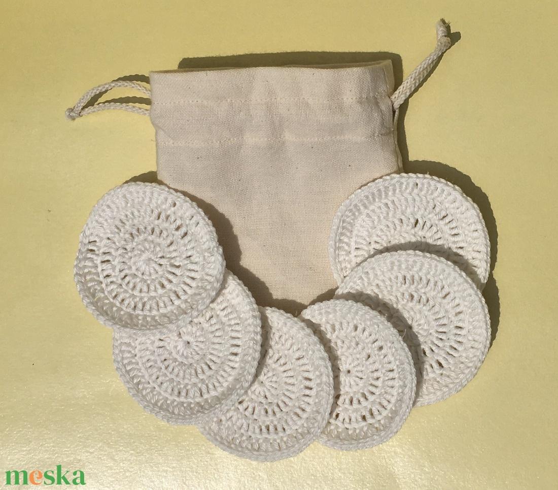 Újrahasználható/mosható arctisztító korong - fehér (marvika) - Meska.hu
