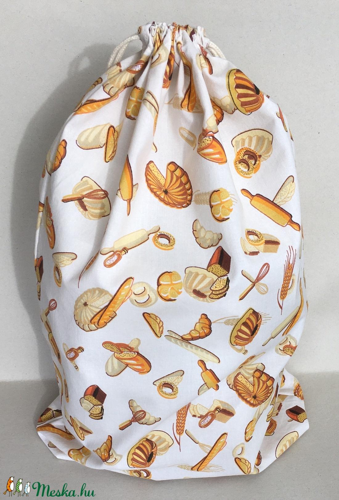 Péksütemény/1 kg-os kenyeres zsák - ekrű alapon pékáru mintás (marvika) - Meska.hu