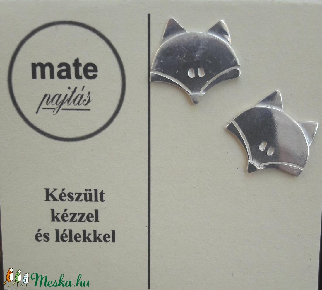 Rókás fülbevaló nagy (matepajtas) - Meska.hu