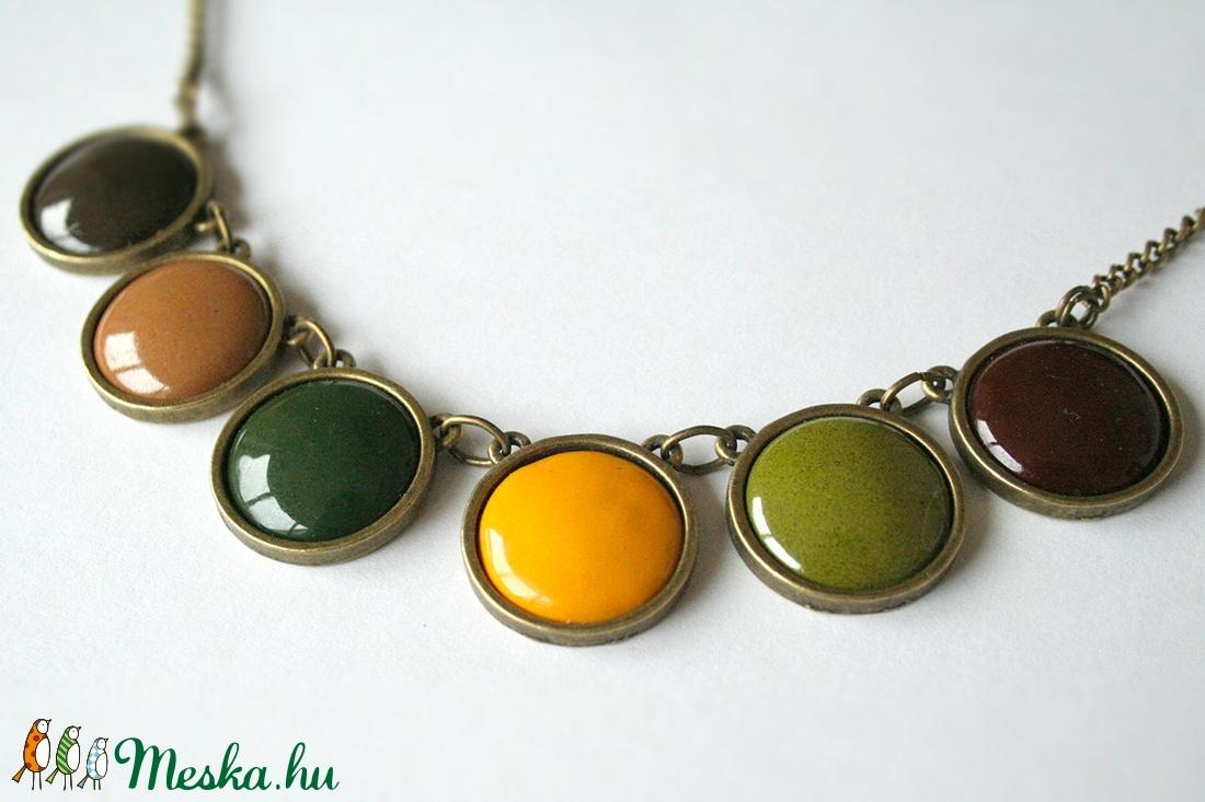 November Trees - tűzzománc nyaklánc barna, zöld, sárga színekben (MatisZomanc) - Meska.hu