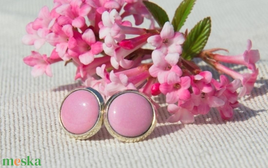 PiciKék - Rózsaszín mini tűzzománc bedugós pötty fülbevaló  (MatisZomanc) - Meska.hu