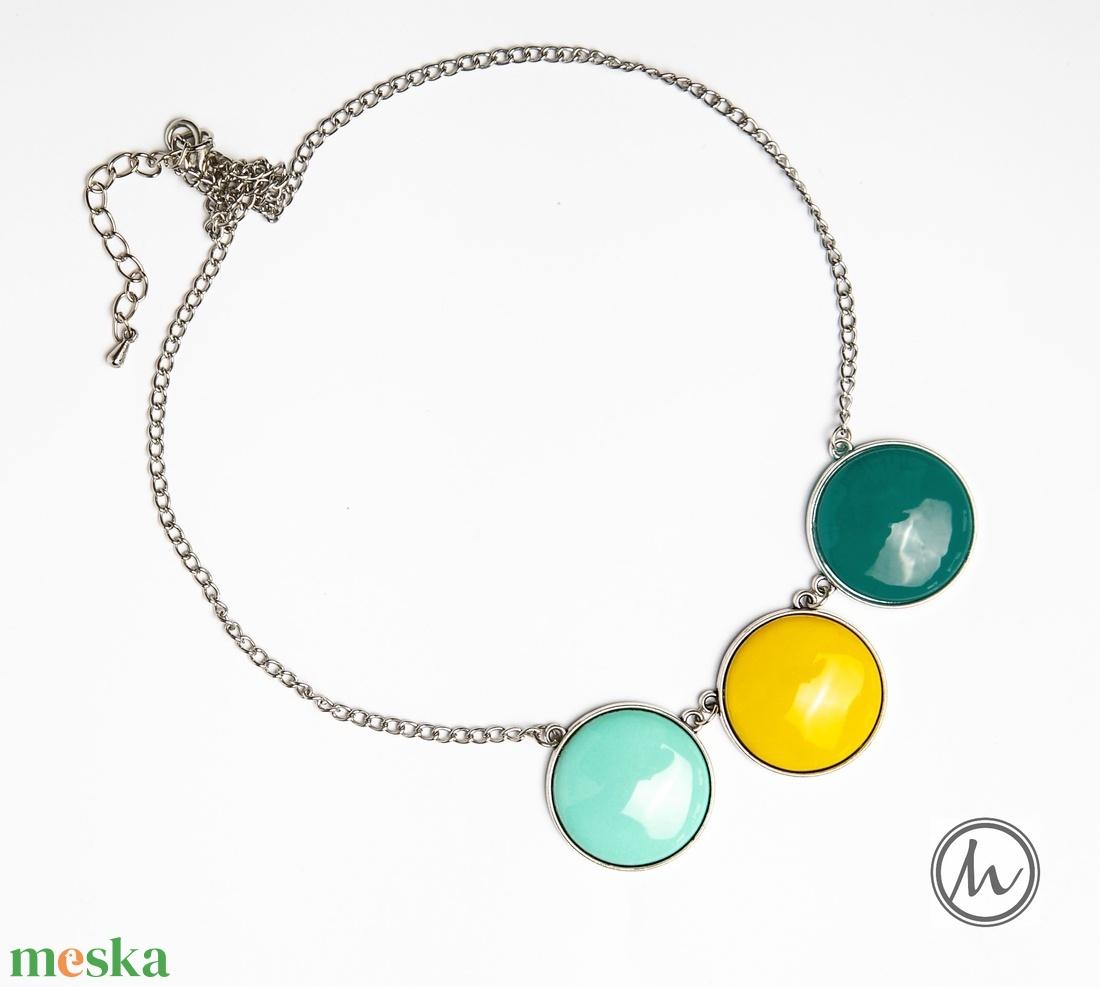 Fresh Air - tűzzománc nyaklánc friss színekben - maxi - ékszer - nyaklánc - bogyós nyaklánc - Meska.hu