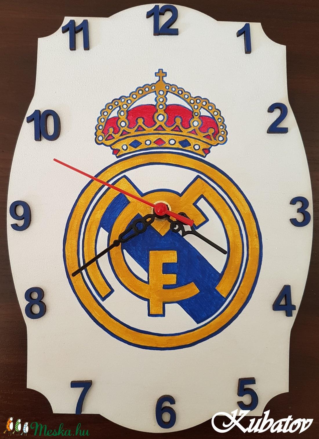 Real Madrid logós óra (mazsine) - Meska.hu