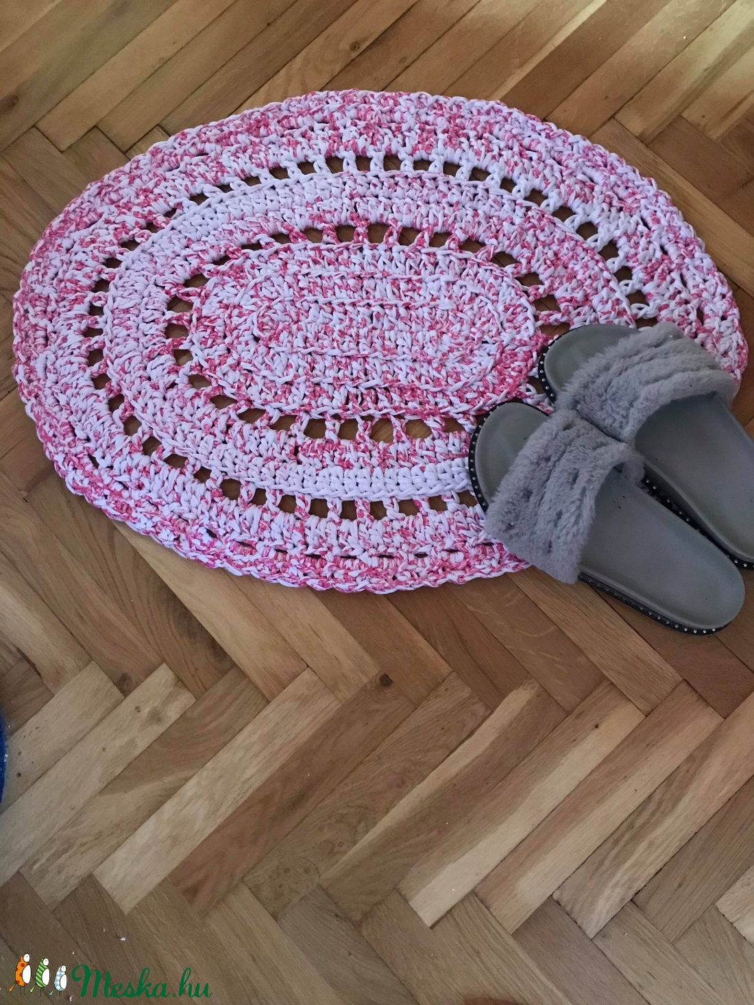 Önmagában mintás, ovális szőneg. (mbrigitta87) - Meska.hu
