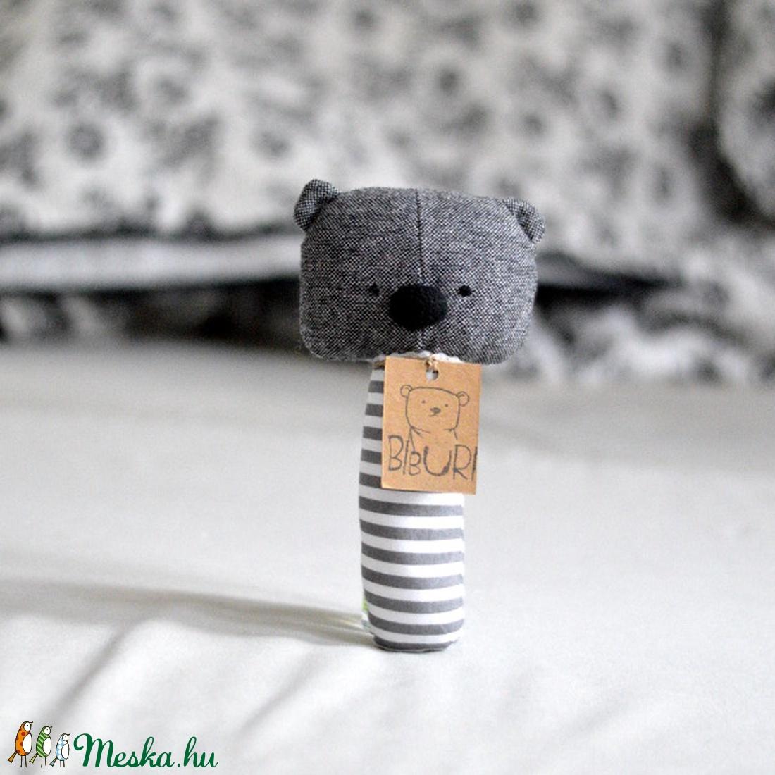 Babajáték - medve maci mackó - babaszoba - szürke plüss (meilingerzita) - Meska.hu