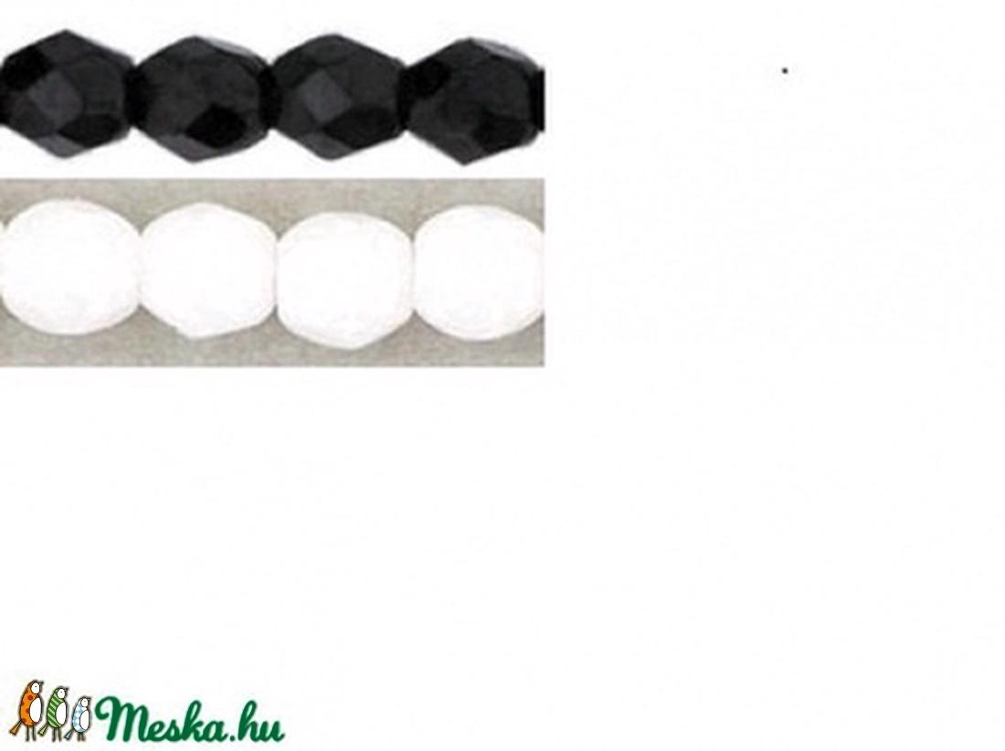 Cseh csiszolt gyöngy csomagok 4mm, 5mm - gyöngy, ékszerkellék - üveggyöngy - Meska.hu