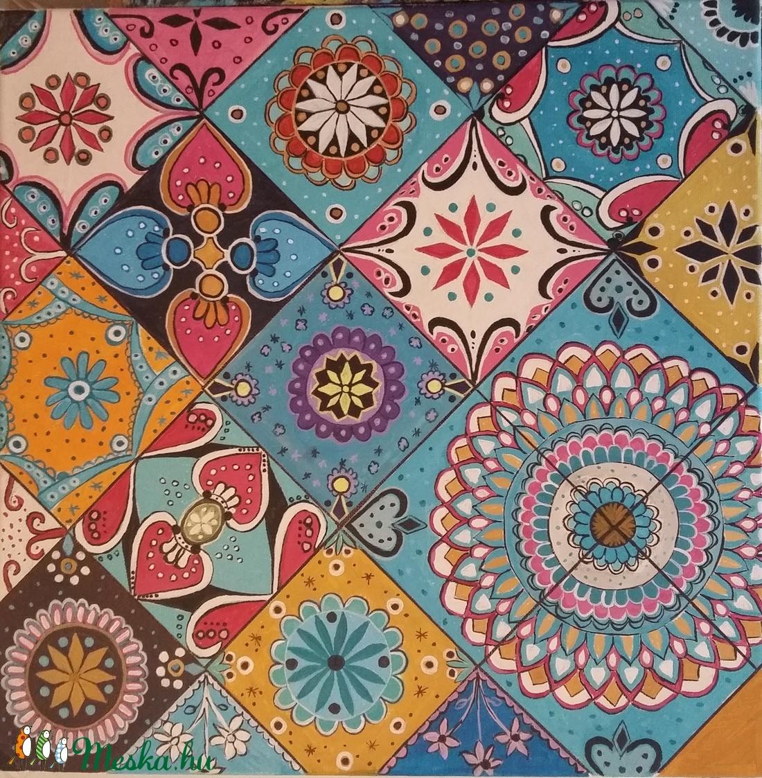 Mozaik kép (memeart) - Meska.hu
