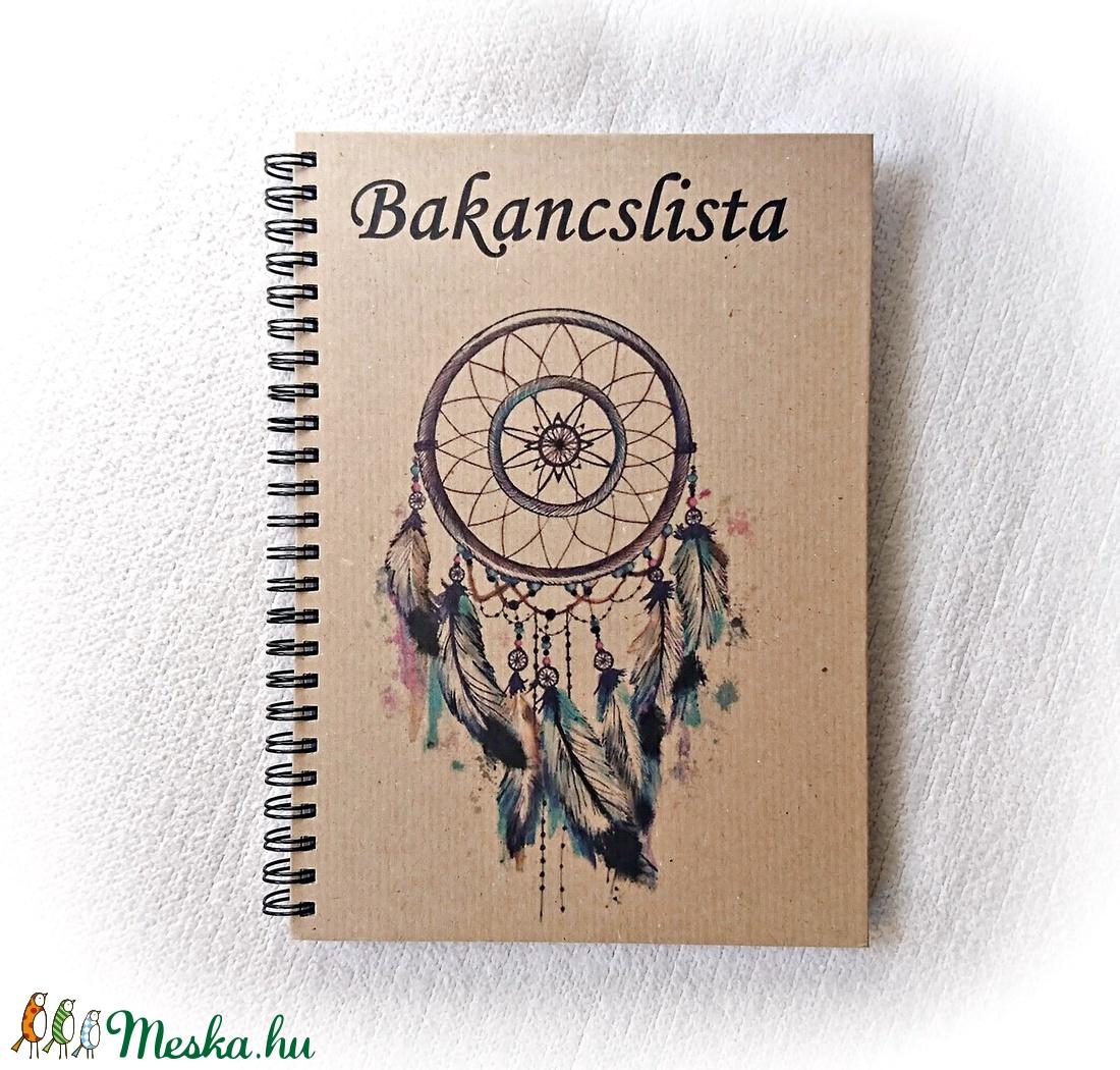 Bakancslista napló, álomfogó, jegyzetfüzet,rusztikus stílusban, névre szóló- A5 méret, könyv - otthon & lakás - papír írószer - jegyzetfüzet & napló - Meska.hu