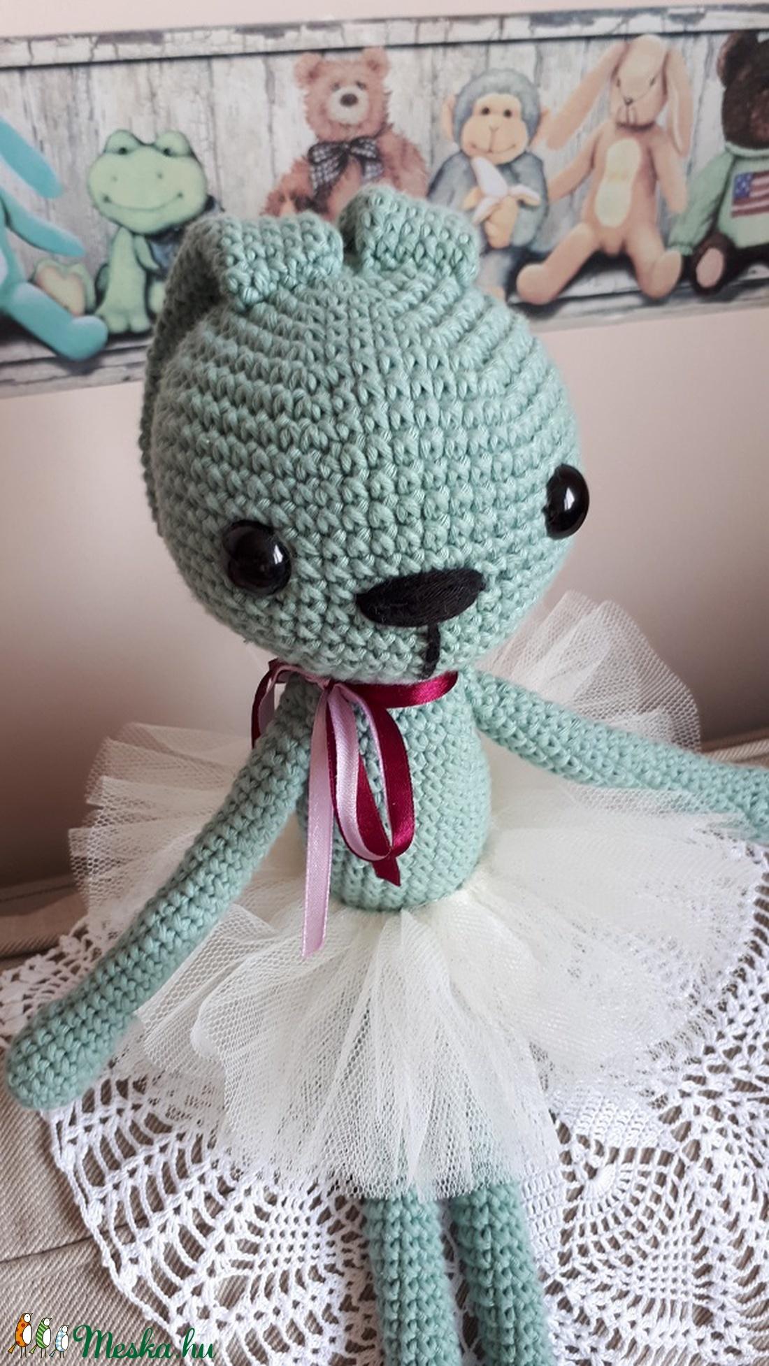 Amigurumi balerina nyuszi! - játék & gyerek - plüssállat & játékfigura - nyuszi - Meska.hu