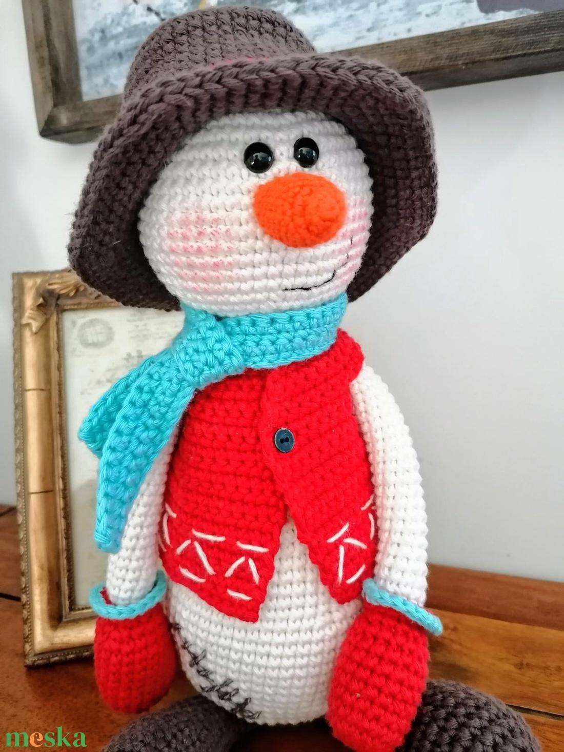 Horgolt karácsonyi hóember! - karácsony - karácsonyi lakásdekoráció - Meska.hu