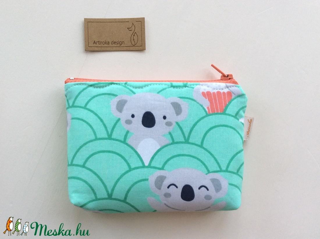 Panda maci a moziban mintás, türkiz zöld színű irattartó,  pénztárca - Húsvétra - táska & tok - pénztárca & más tok - pénztárca - Meska.hu