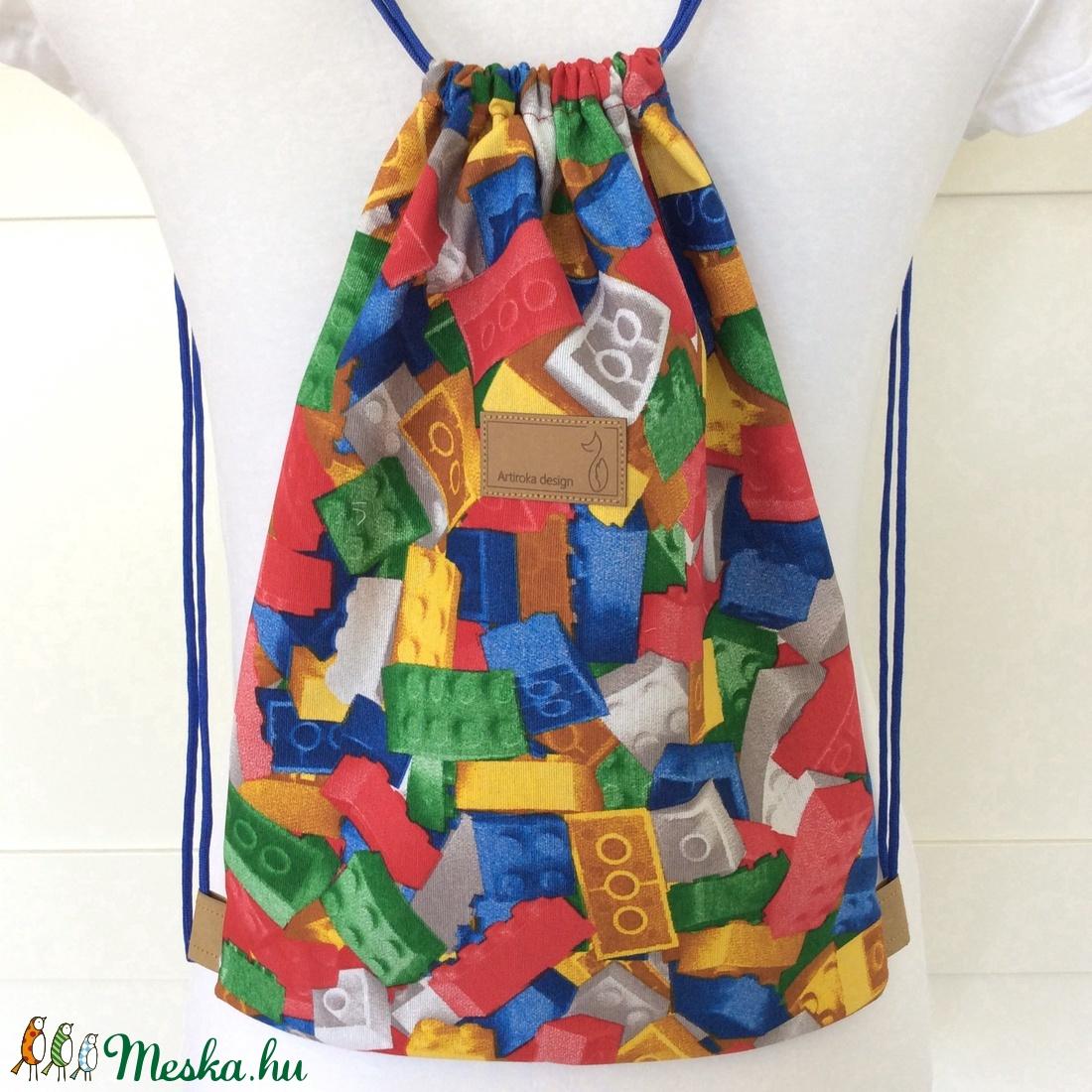 60f469f50c01 LEGO mintás, egyedi hátizsák - tornazsák edzéshez, úszáshoz, kirándulashoz  gyerek napra