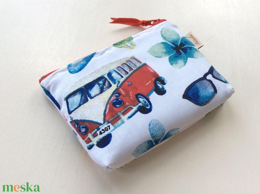 Volkswagen busz, retro irattartó pénztárca - szörf, nyár, shup, tenger, Balaton,  - táska & tok - pénztárca & más tok - pénztárca - Meska.hu