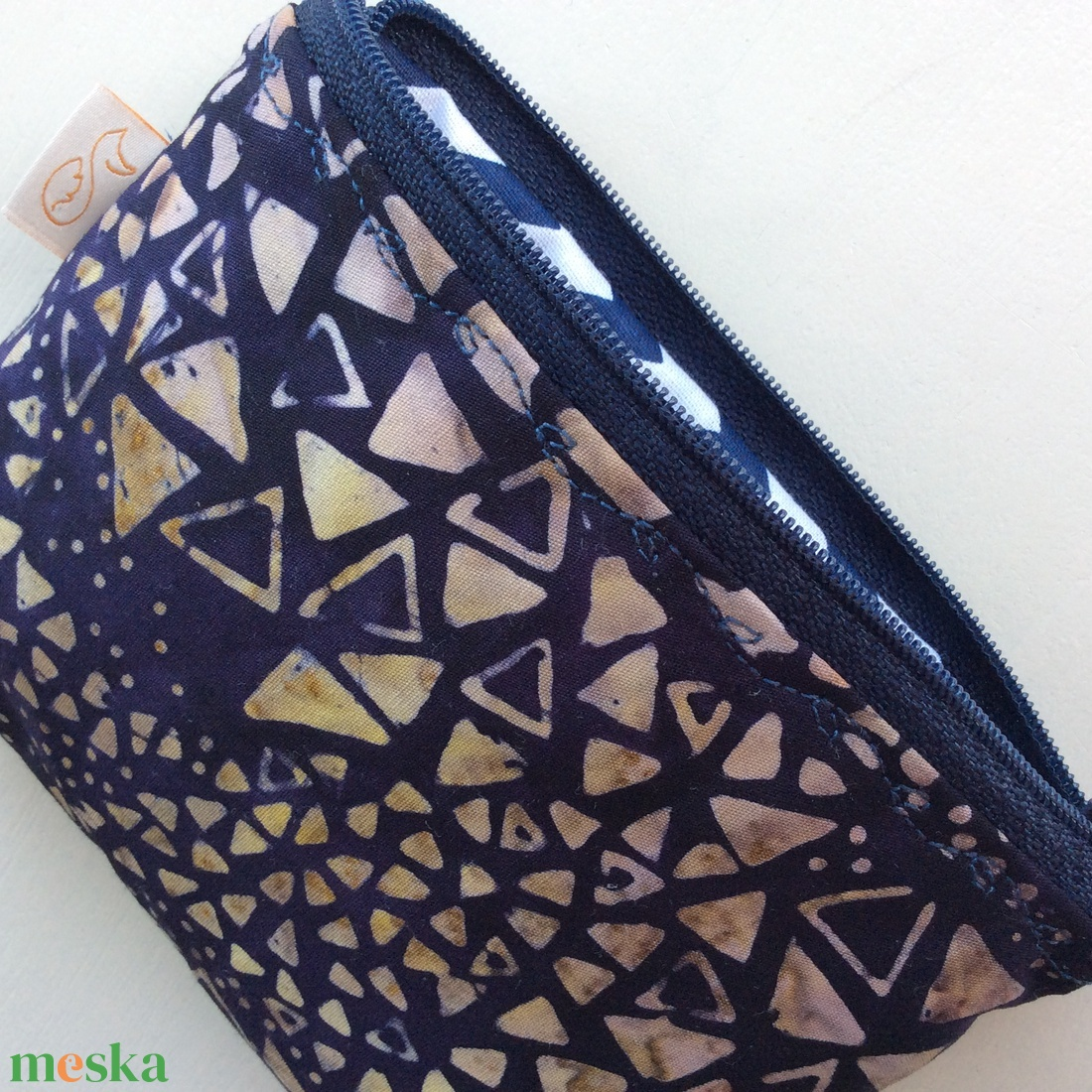 Kövek a vízparton - egyedi, batikolt, irattartó pénztárca, neszesszer - Artiroka design - táska & tok - neszesszer - Meska.hu