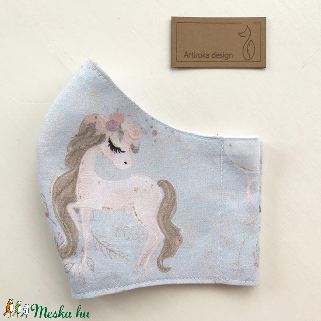 Unikornis mintás maszk, szájmaszk, arcmaszk, gyerek maszk prémium pamut textilből - Mesedoboz - Artiroka design - maszk, arcmaszk - gyerek - Meska.hu