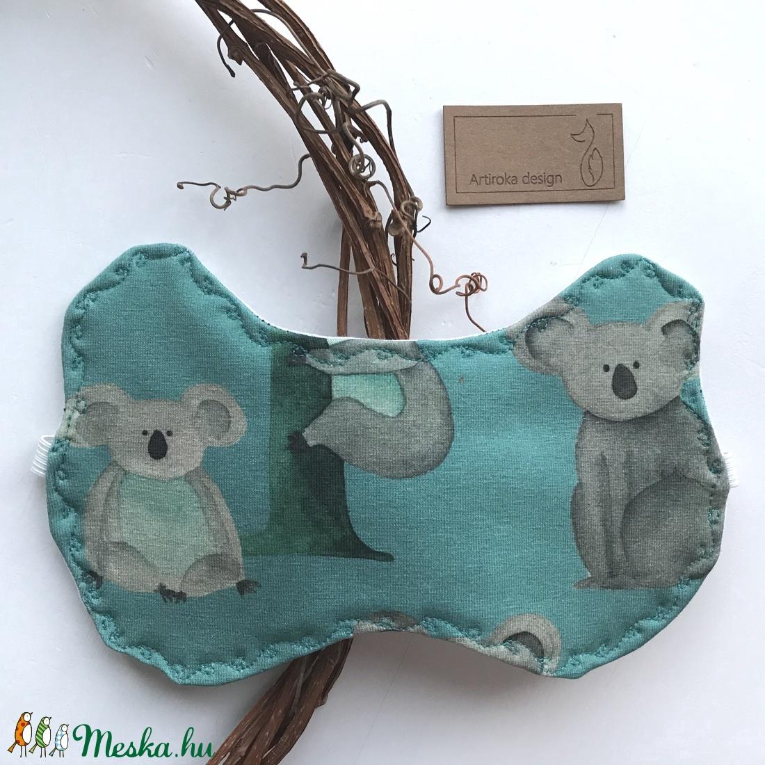 Koala mackó mintás, füles alvómaszk, szemmaszk -  Artiroka design (Mesedoboz) - Meska.hu