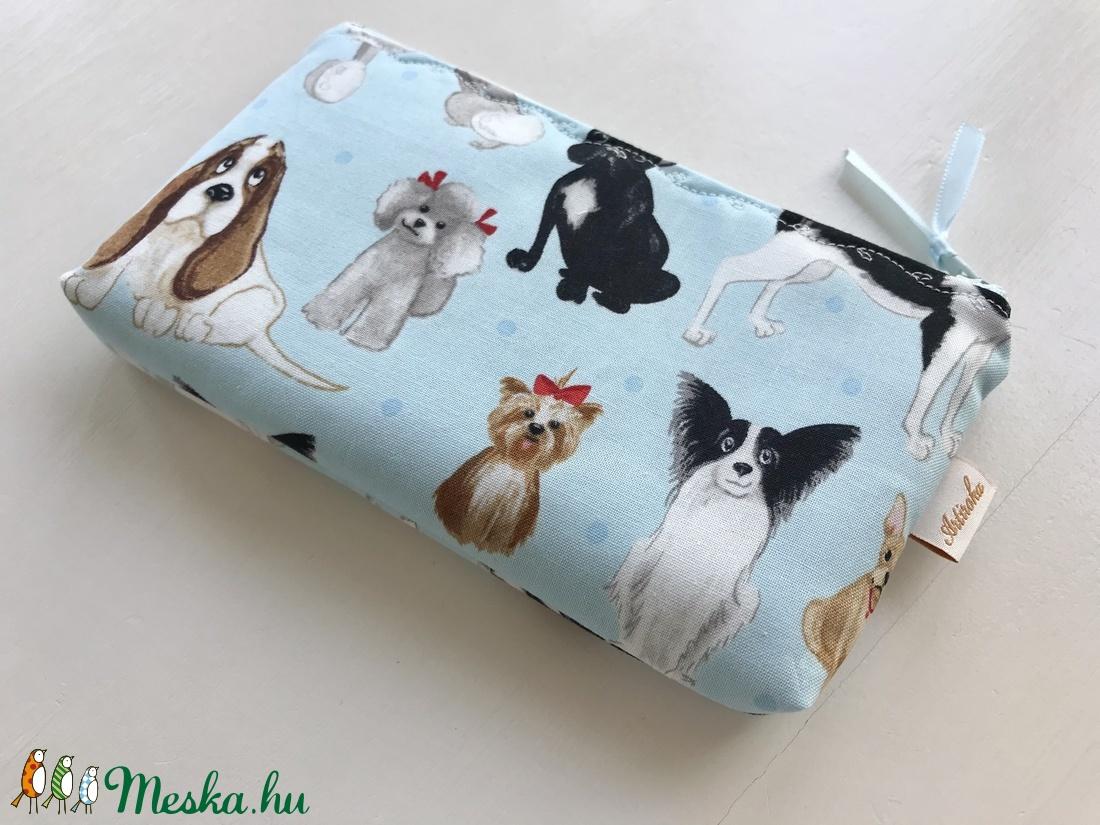 Kutya mintás  prémium tolltartó, irattartó neszesszer, mobiltok, szemüvegtok - Artiroka design - táska & tok - neszesszer - Meska.hu