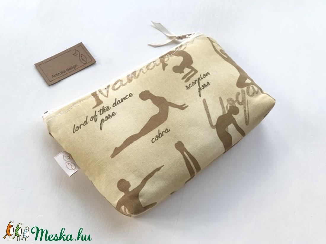 Jóga mintás prémium neszesszer, tolltartó, mobiltartó vagy szemüvegtok - Artiroka design - táska & tok - pénztárca & más tok - pénztárca - Meska.hu