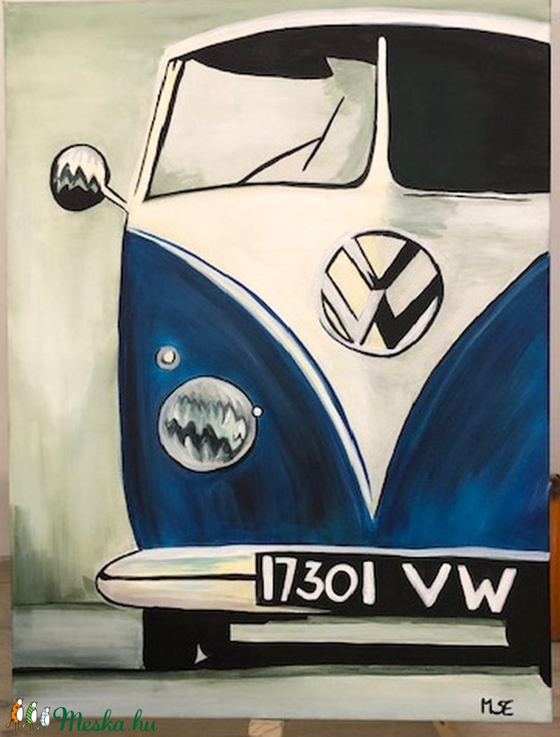 Akril festmény VW kisbusz (falikép) - Meska.hu