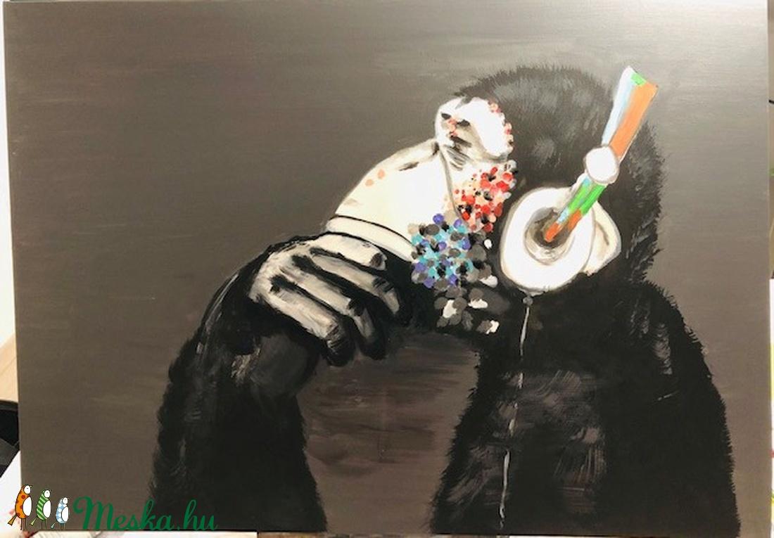 Akril festmény majom (fali kép) - Meska.hu