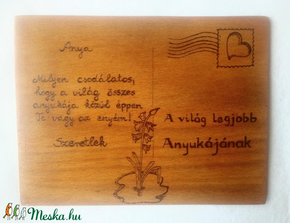 Anyák napjára kézzel gravírozott ajándék - Meska.hu
