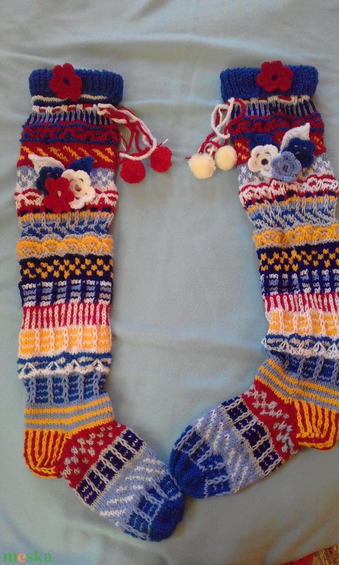 színes térd fölötti zokni (MiAnda) - Meska.hu b45376ceaf