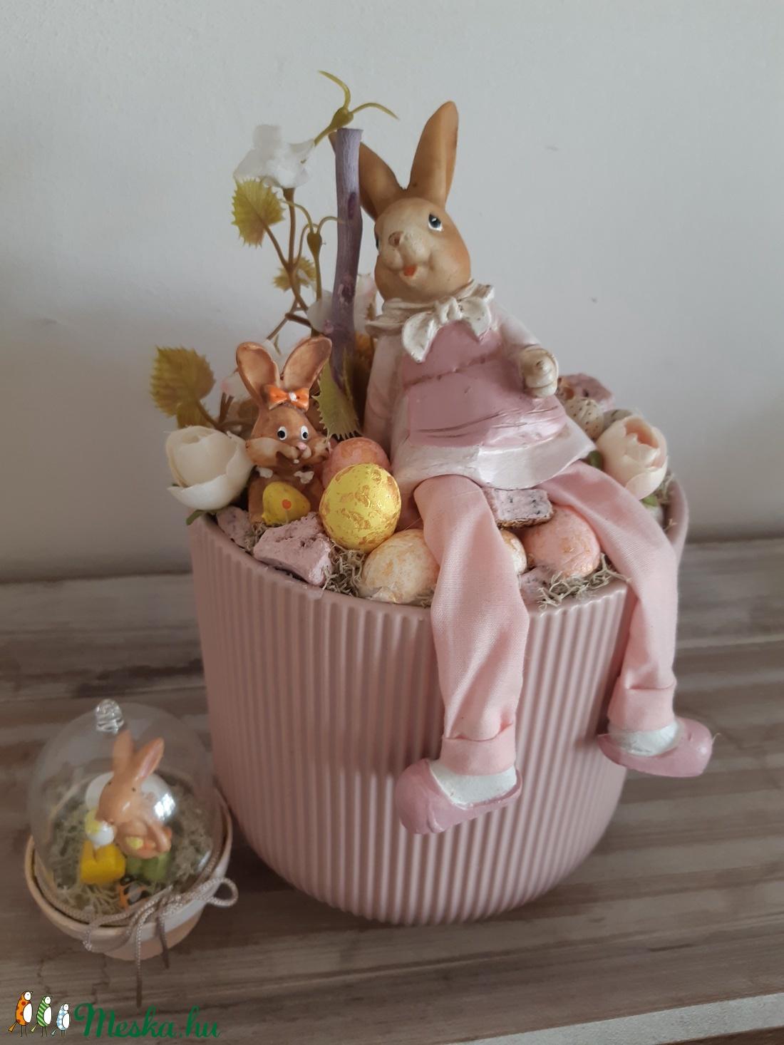 Nyúl mama -tavaszi asztaldísz (Miestas) - Meska.hu