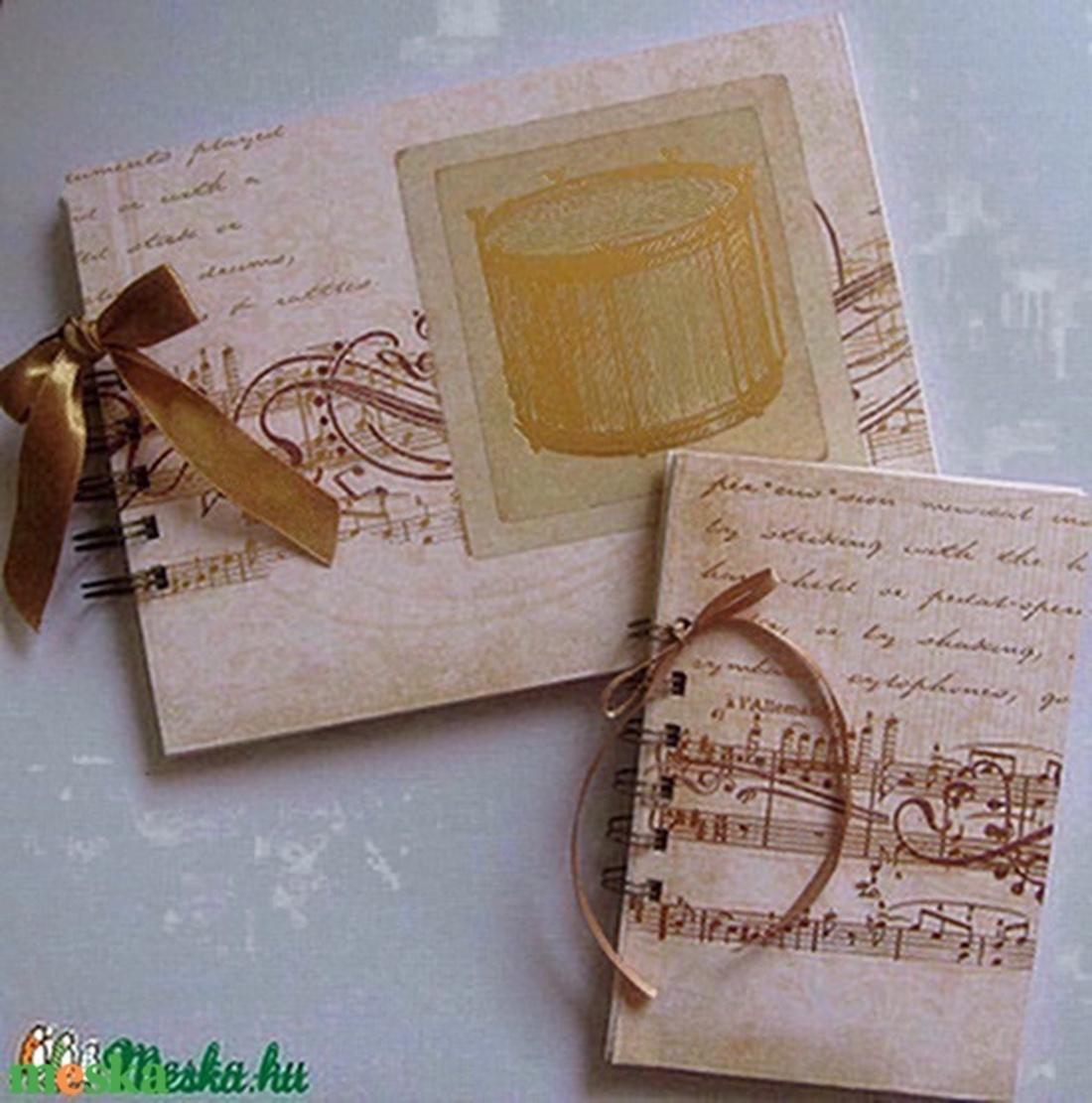 Zongorajáték - zenekedvelőknek , zenetanároknak - album (napló) - zongoraverseny - zeneiskolás - egyedi ajándék - emlék - otthon & lakás - papír írószer - jegyzetfüzet & napló - Meska.hu