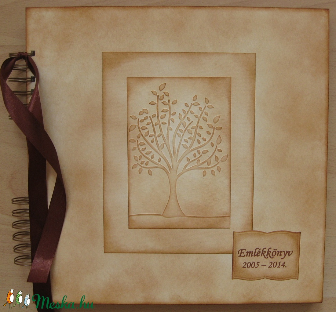 Emlékmegőrző album - Emlékkönyv  - családi ünnepekre, céges évfordulós eseményekre - otthon & lakás - papír írószer - album & fotóalbum - Meska.hu