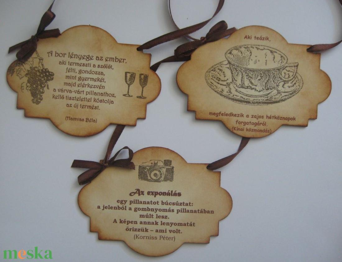 Tábla - felirattal -  családi ünnepekre, céges rendezvényekre, találkozókra, a mindennapokra - otthon & lakás - papír írószer - Meska.hu