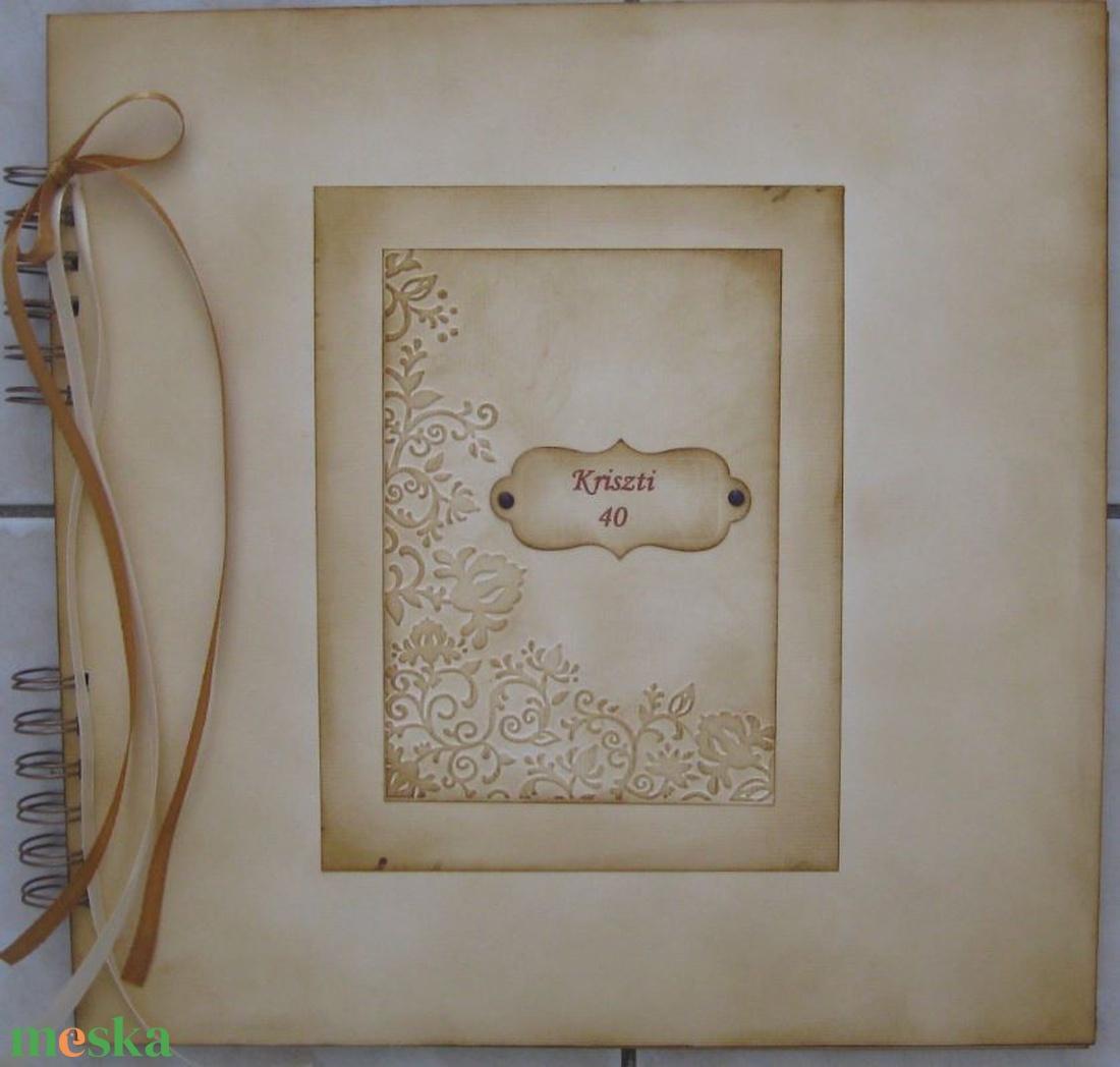 Emlékmegőrző album - lánybúcsúra, barátnődnek - családi ünnepek- kislányok születésnapja - örök emlék - egyedi termék -  - otthon & lakás - papír írószer - album & fotóalbum - Meska.hu