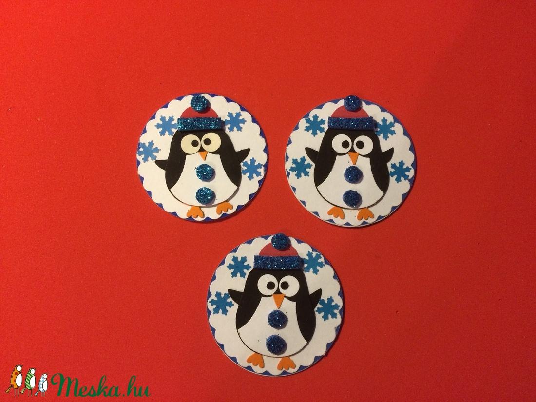Pingvin hűtőmágnes (3db-os szett) (Mimizuku) - Meska.hu