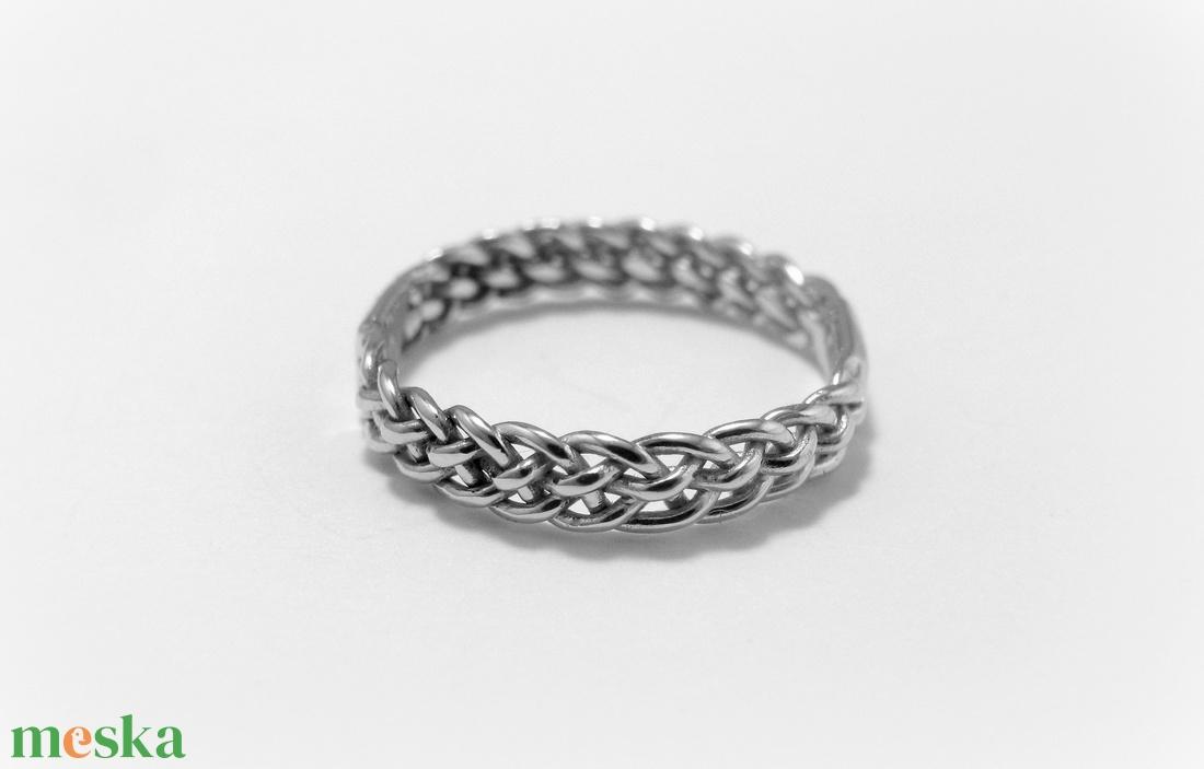 Ezüst 5 fonatos gyűrű (minicsiga) - Meska.hu