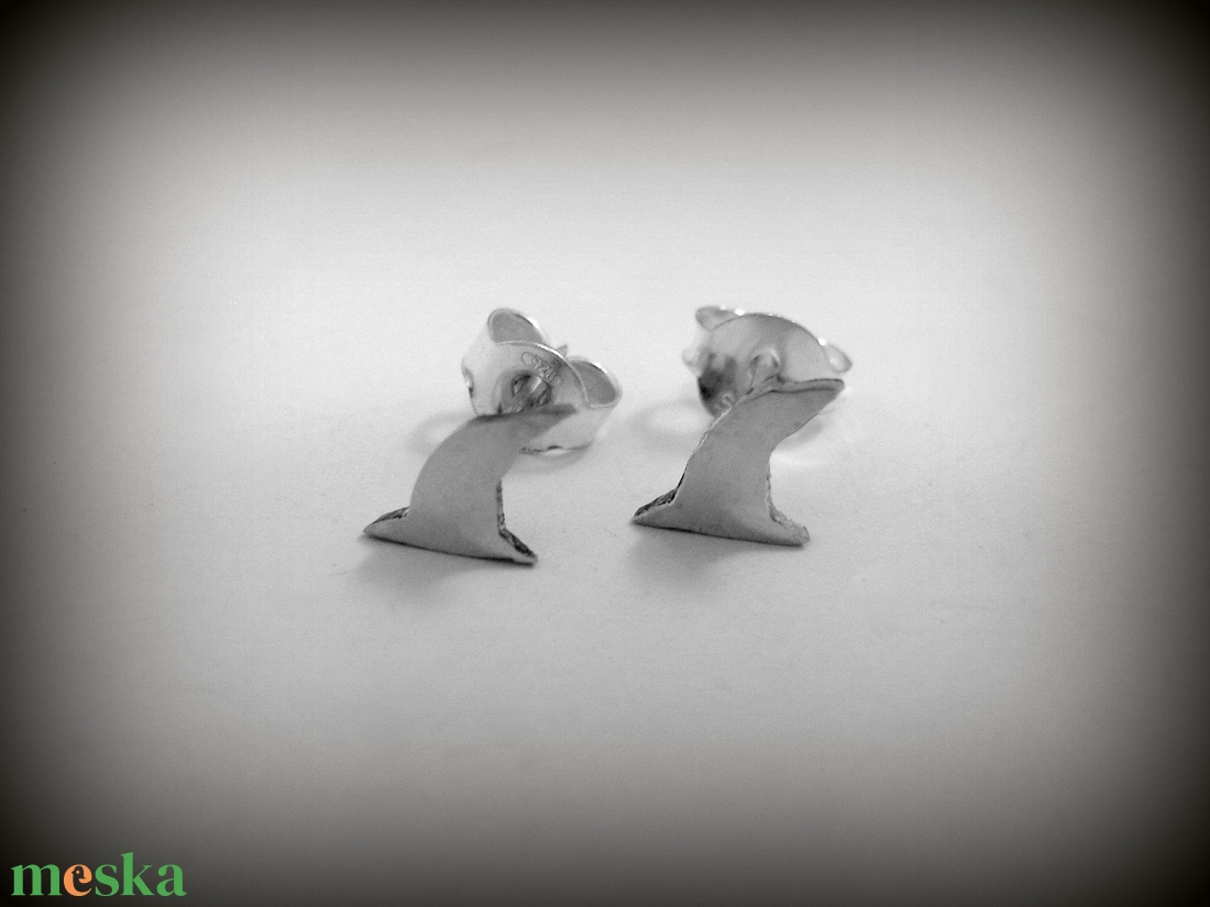 Ezüst boszorkány sapka fülbevaló (minicsiga) - Meska.hu