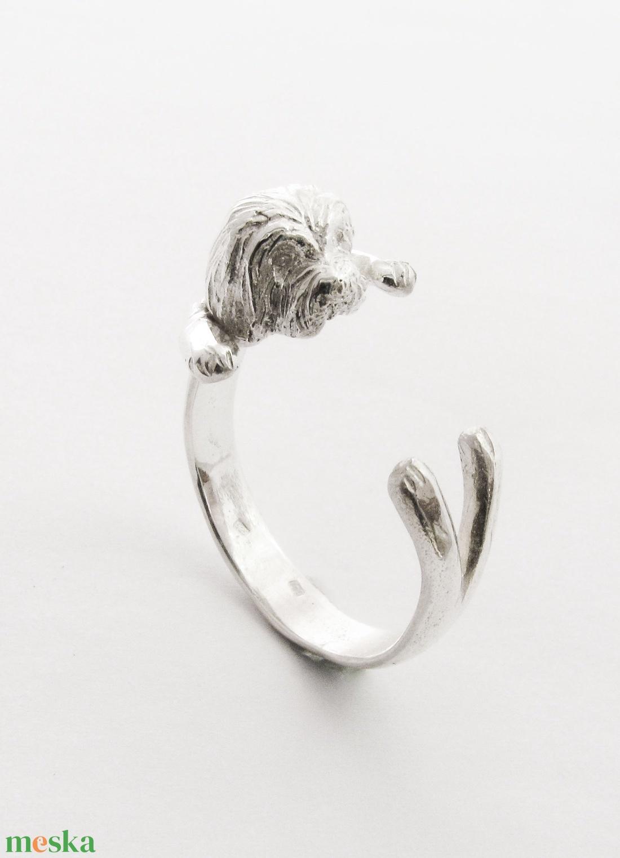 Ezüst Havanese gyűrű (minicsiga) - Meska.hu