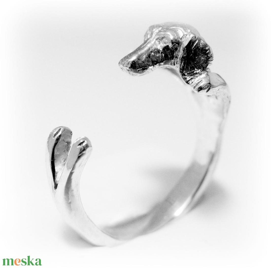 Ezüst Tacskó gyűrű (minicsiga) - Meska.hu