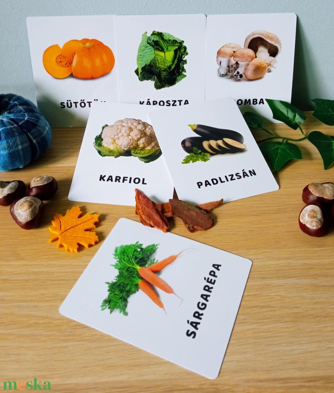 Zöldségek tanulókártya (miniPAKLI) - Meska.hu