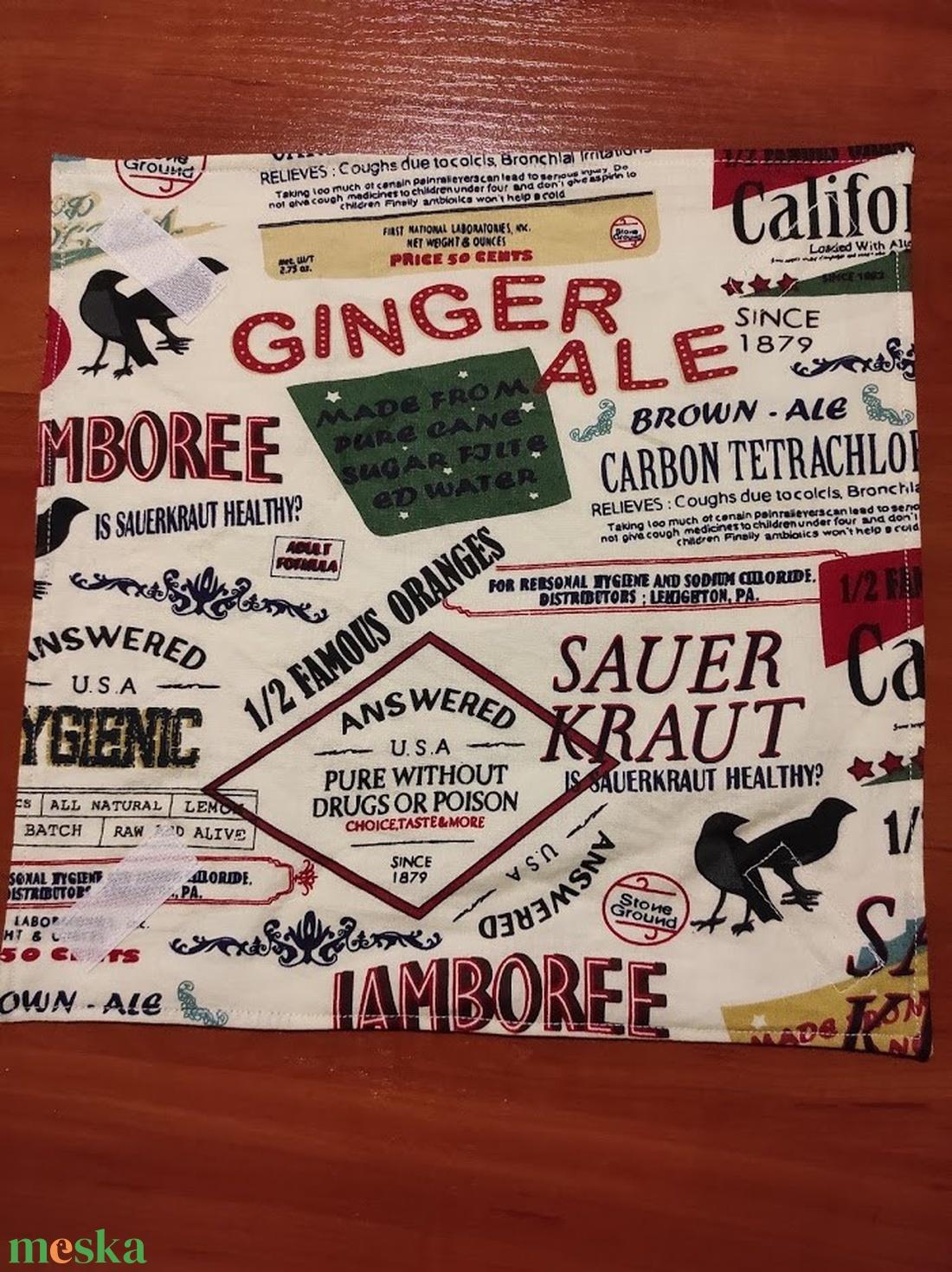Cimke felíratos, mintás  újraszalvéta,textilszalvéta tízórai,uzsonna csomagolására - otthon & lakás - konyhafelszerelés - szalvéta - Meska.hu