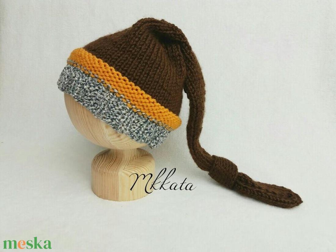 Kötött baba sapka 1-3 hónapos méret  - ruha & divat - babaruha & gyerekruha - babasapka - Meska.hu