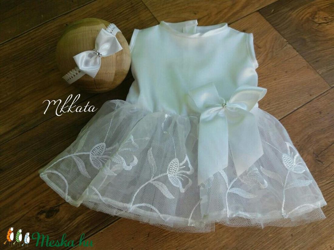 Alkalmi , keresztelő kislány ruha 56, 62, 68 as méretben (Mkkata) Meska.hu