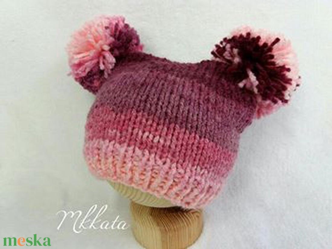 Kötött baba sapka 0-3 hónapos méret  - ruha & divat - babaruha & gyerekruha - babasapka - Meska.hu