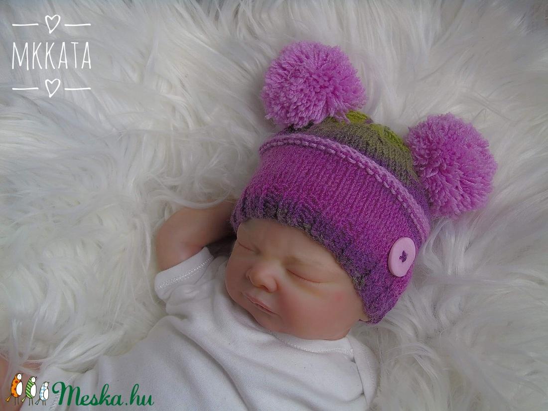 Kötött baba sapka 0-3 hónapos méret  (Mkkata) - Meska.hu